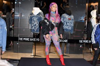 Nicki Minaj – Braless Seethrough In Milan